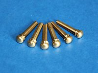 Bridge pins, Strap pins, Pic's, Nuts & Saddles.. bridge pins brass