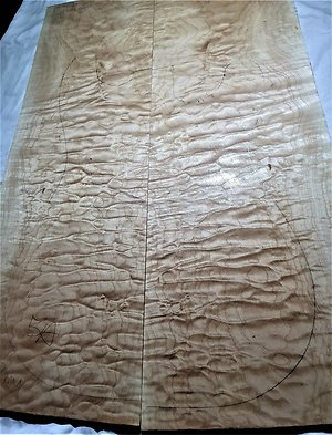 Quilted Maple Electric Guitar Drop Tops. quilt 303