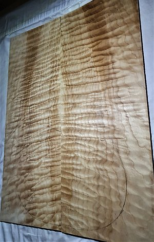 Quilted Maple Electric Guitar Drop Tops. quilt 313